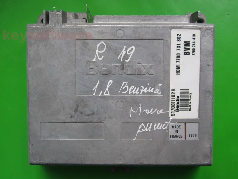 ECU Renault 19 1.7 HOM7700731802 S100811102B Fenix3B