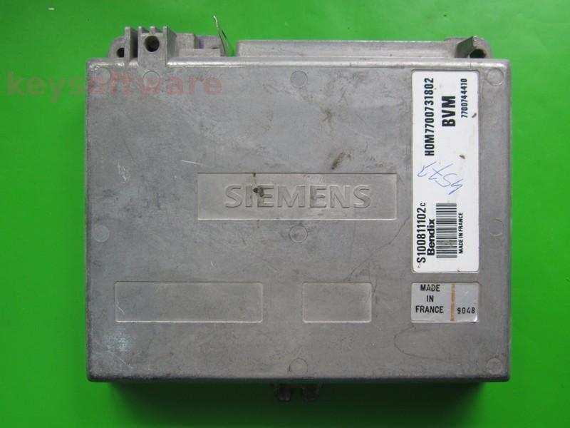 ECU Renault 19 1.7 HOM7700731802 S100811102C Fenix3B