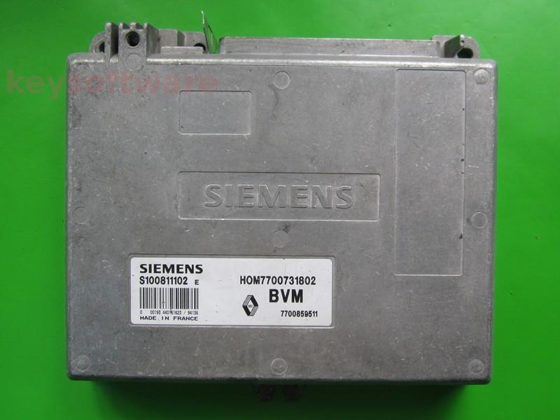 ECU Renault 19 1.7 HOM7700731802 S100811102E Fenix3B