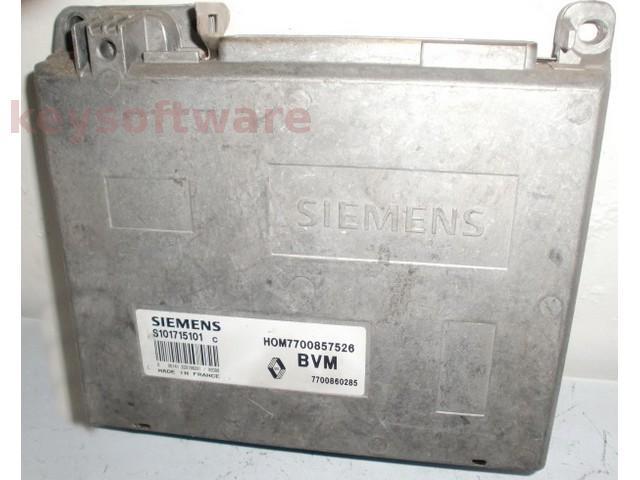 ECU Renault 19 1.4 HOM7700857526 S101715101C Fenix3B {