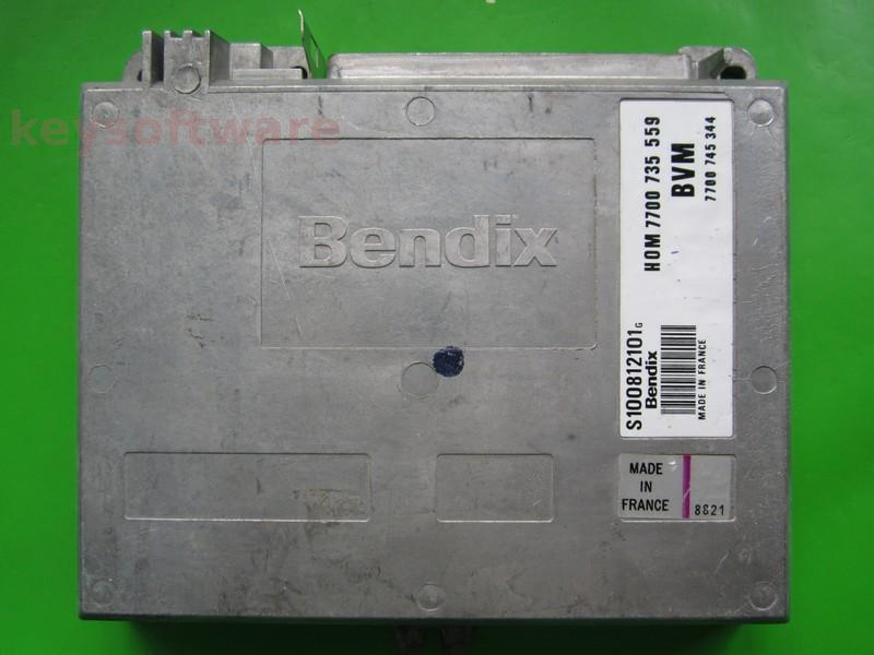 ECU Renault 21 1.7 7700745344 S100812101G Bendix