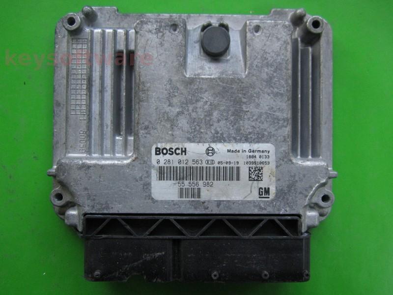 ECU Saab 9-3 1.9TID 55556982 0281012563 EDC16C39