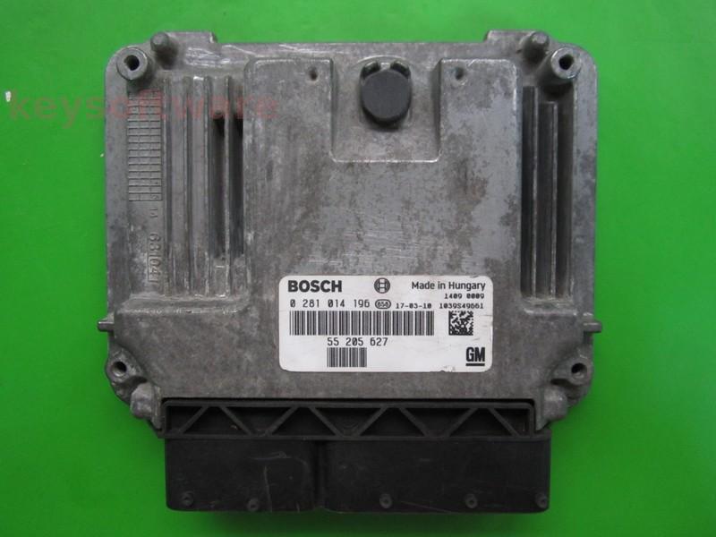 ECU Saab 9-3 1.9TID 55205627 0281014196 EDC16C39