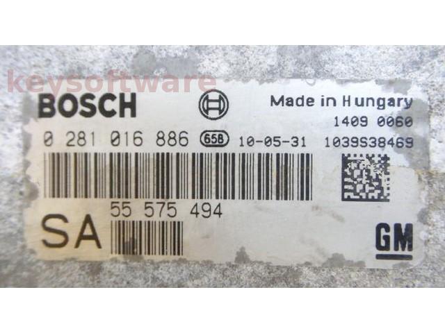 ECU Saab 9-3 1.9TID 55575494 0281016886 EDC16C39 { +