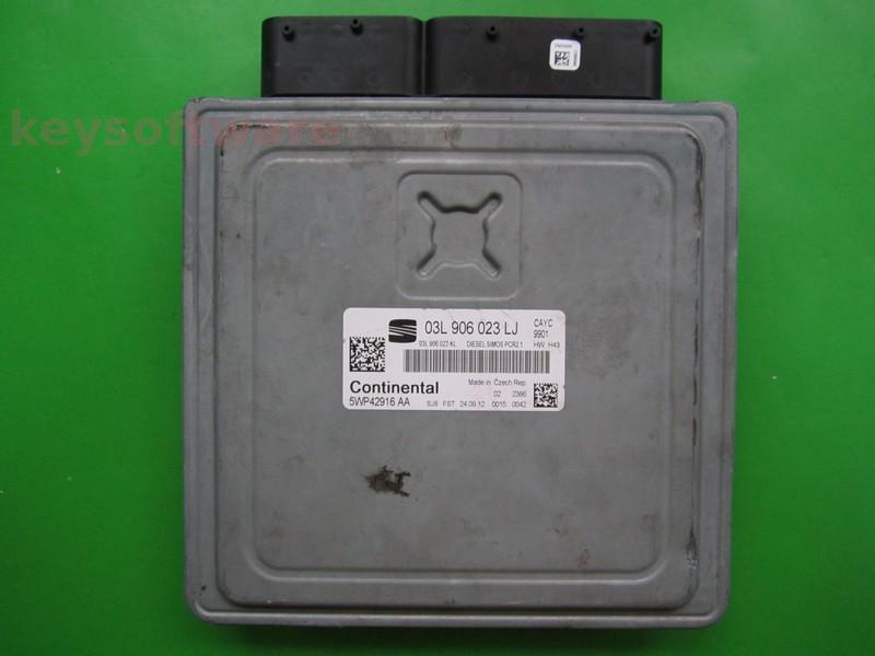 ECU Seat Altea 1.6TDI 03L906023LJ 5WP42916 SIMOS PCR2.1