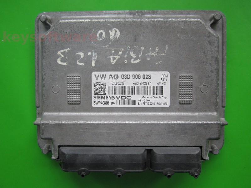 ECU Skoda Fabia 1.2 03D906023 5WP40806 SIMOS 9.1