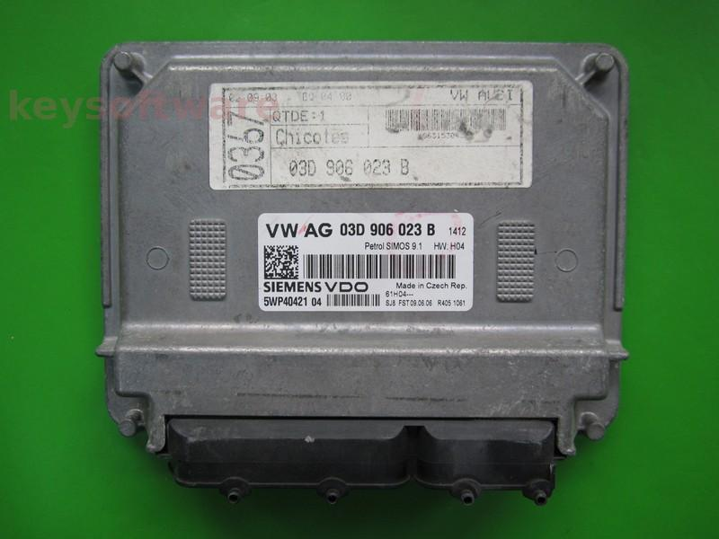 ECU Skoda Fabia 1.2 03D906023B 5WP40421 SIMOS 9.1 BMD