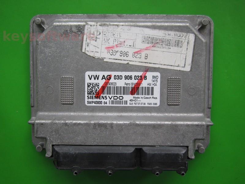 ECU Skoda Fabia 1.2 03D906023B 5WP40800 SIMOS 9.1 BMD