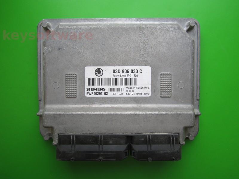 ECU Skoda Fabia 1.2 03D906033C 5WP40292 SIMOS 3PG BMD {+