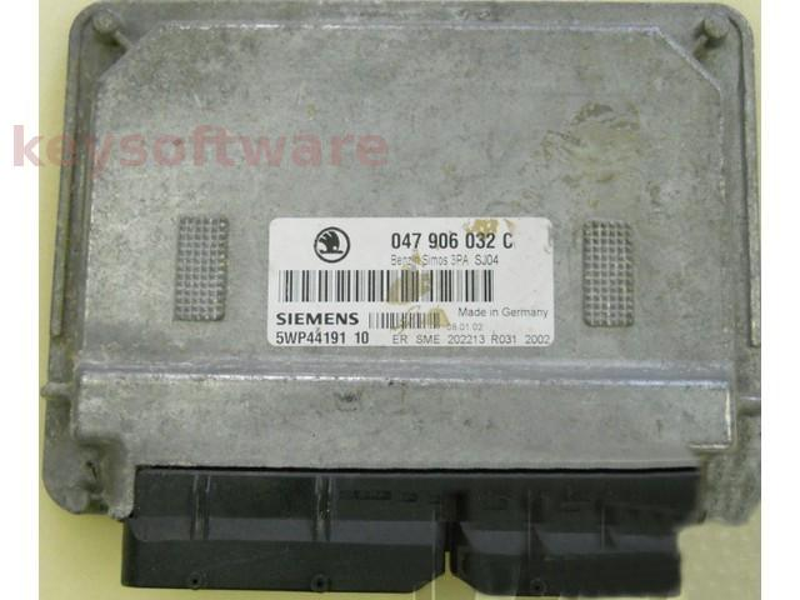 ECU Skoda Fabia 1.0 047906032C 5WP44191 SIMOS 3PA {