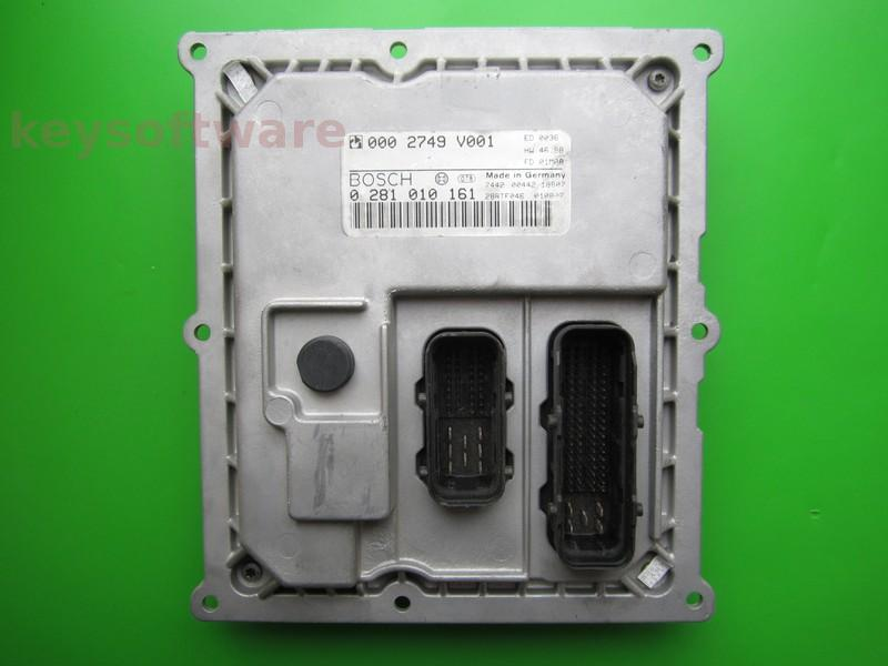 ECU Smart Fortwo 0.8CDI 0002749V001 0281010161 EDG15C