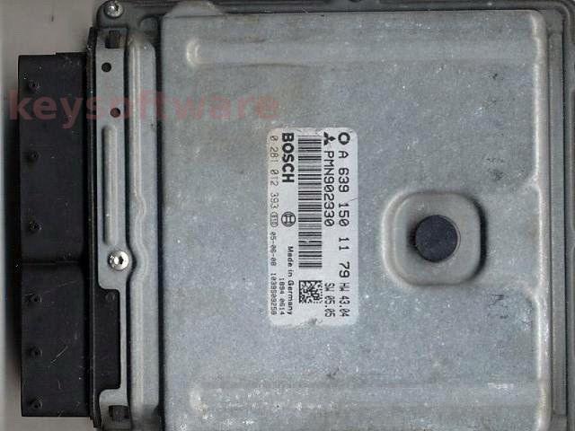 ECU Smart Forfour 1.5CDI A6391501179 0281012393 EDG16C33 +