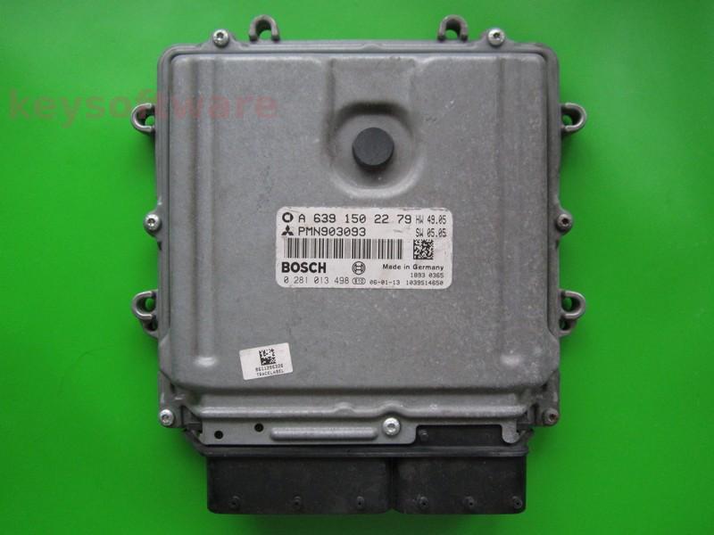 ECU Smart Forfour 1.5CDI A6391502279 0281013498 EDG16C33