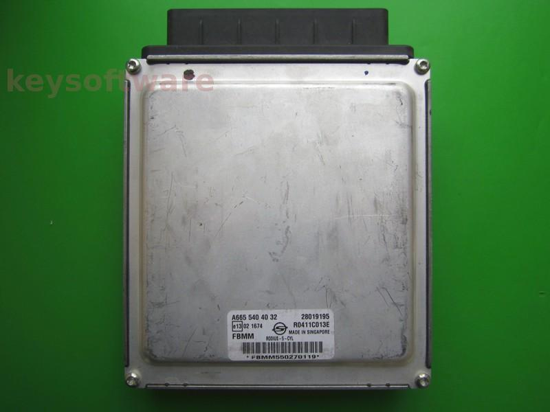 ECU Ssangyong Rodius 2.7D A6655404032