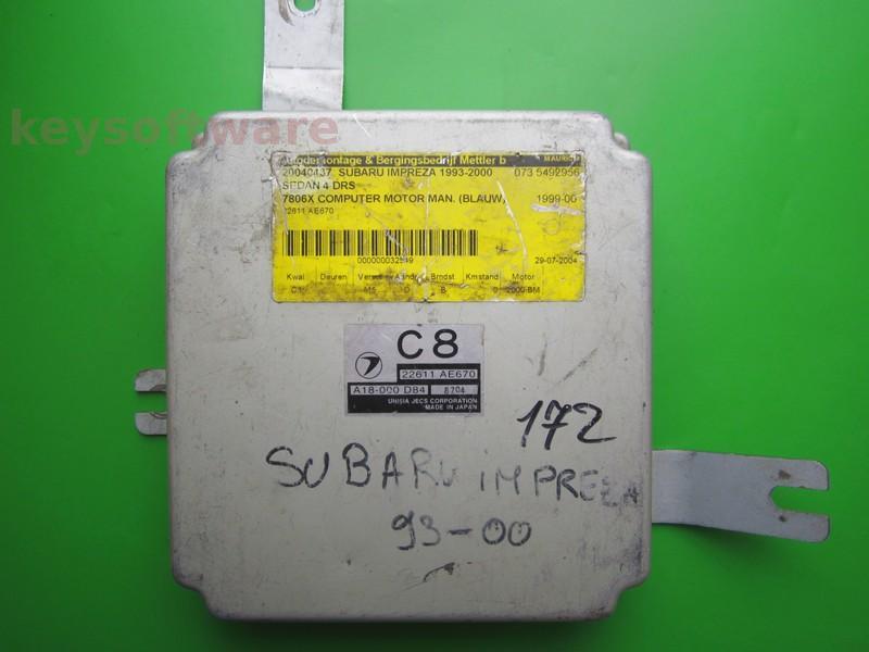 ECU Subaru Impreza 2.0 22611AE670 C8