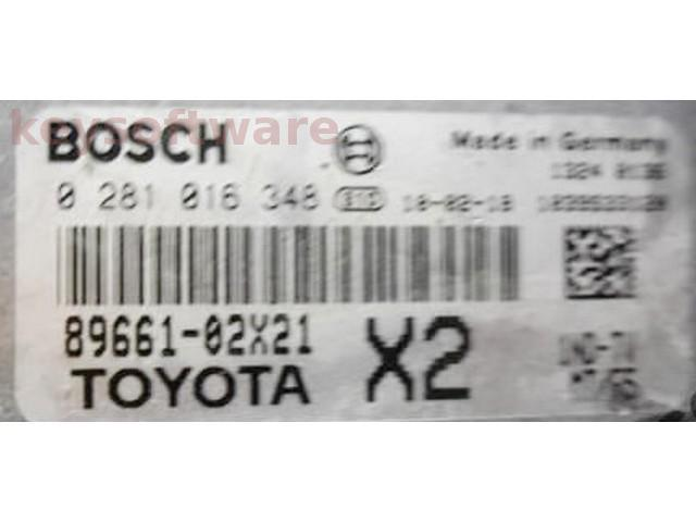 ECU Toyota Auris 1.4D4D 89661-02X21 0281016348 EDC17CP07 {