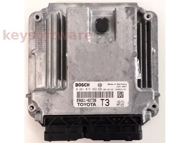 ECU Toyota Auris 1.4D4D 89661-02T30 0281015362 EDC17CP14 {