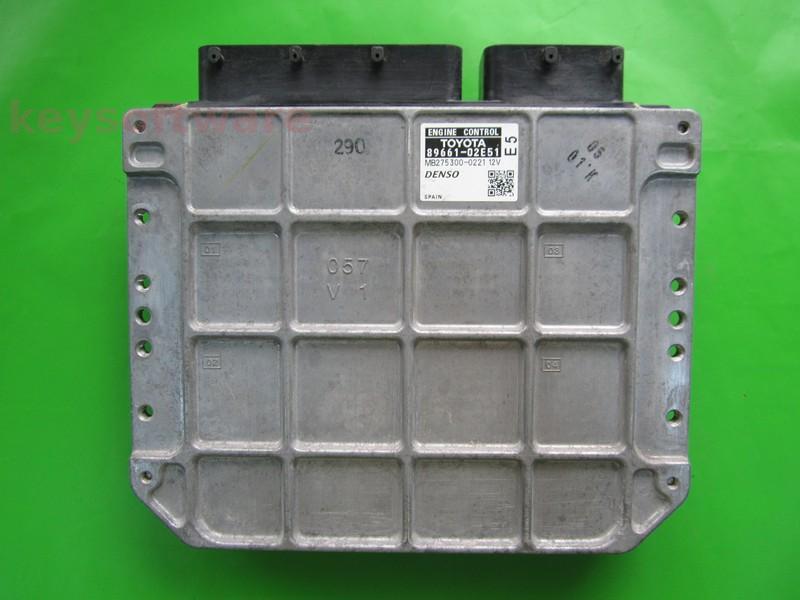ECU Toyota Auris 1.6 89661-02E51 MB275300-0221