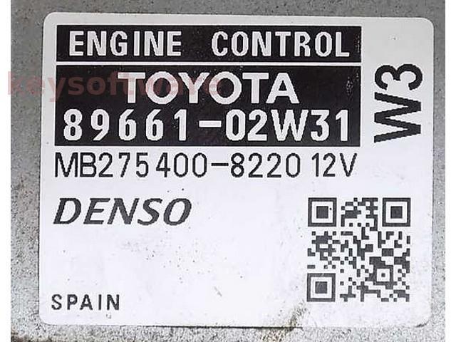 ECU Toyota Auris 1.4 89661-02W31 MB275400-8200 {