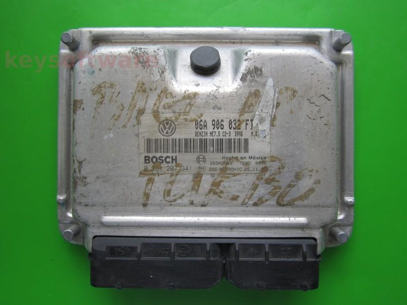 ECU VW Beetle 1.8 06A906032FT 0261207341 ME7.5 AWU