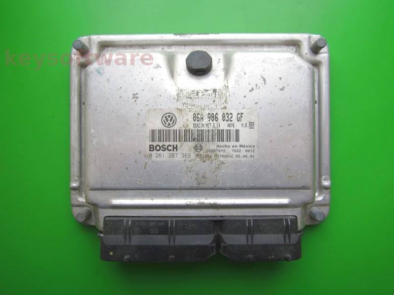 ECU VW Beetle 1.8 06A906032GF 0261207369 ME7.5 AZG