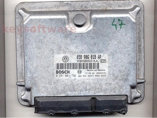 ECU VW Beetle 1.9TDI 038906018AP 0281001732 EDC15V ALH {
