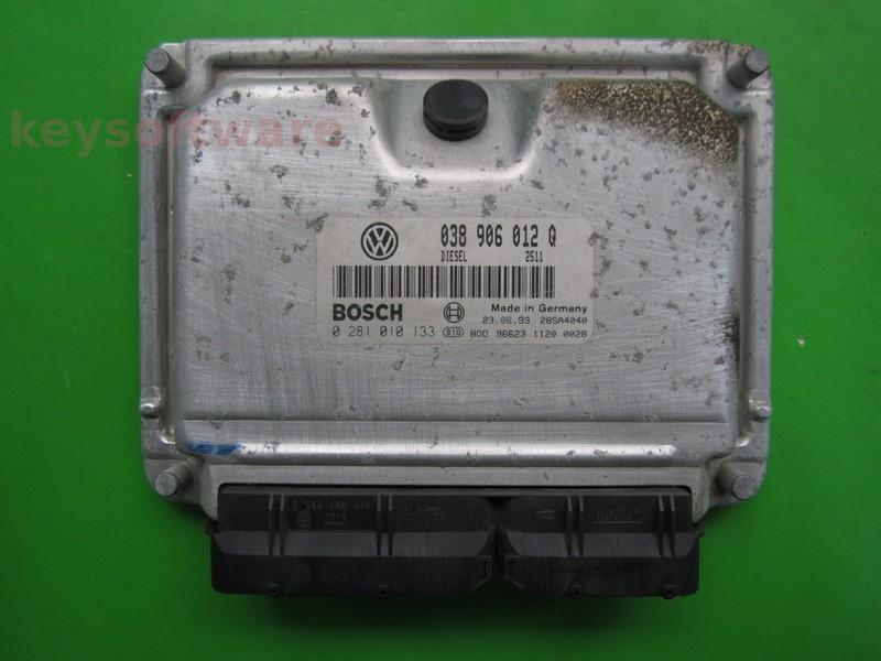 ECU VW Beetle 1.9TDI 038906012Q 0281010133 EDC15VM+ {+