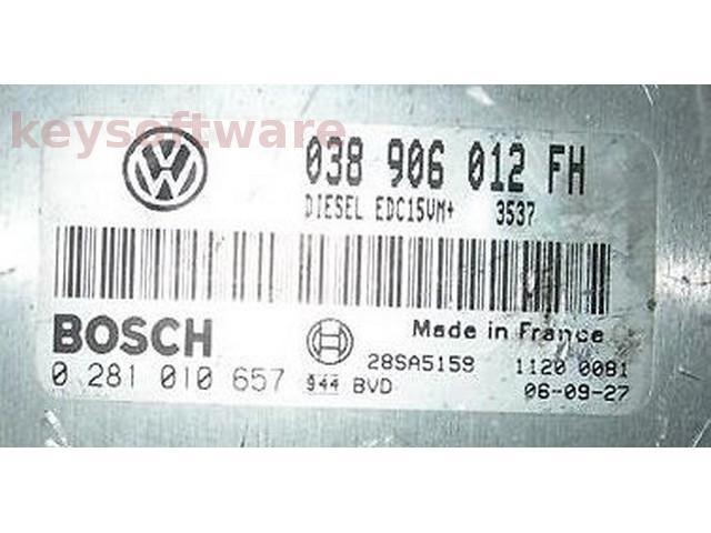ECU VW Beetle 1.9TDI 038906012FH 0281010657 EDC15VM+ {+