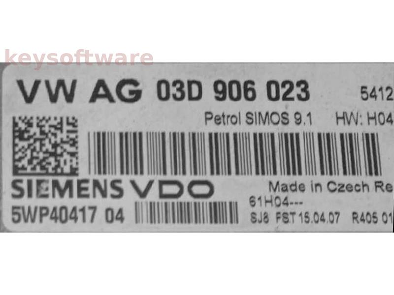 ECU Skoda Fabia 1.2 03D906023 5WP40417 SIMOS 9.1 {