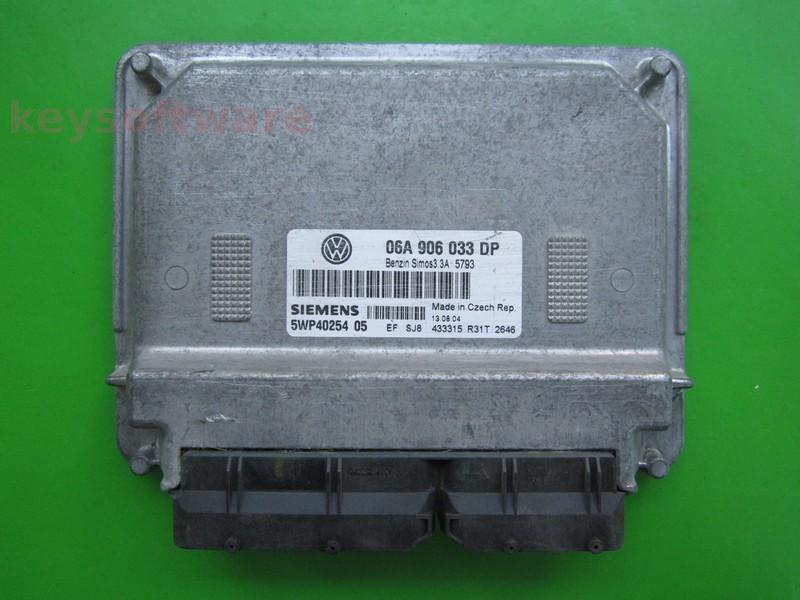 ECU VW Beetle 1.6 06A906033DP 5WP40254 SIMOS 3.3A