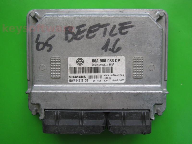 ECU VW Beetle 1.6 06A906033DP 5WP44218 SIMOS 3.3A BFS }