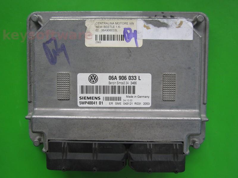ECU VW Beetle 1.6 06A906033L 5WP40041 SIMOS 3.3A }